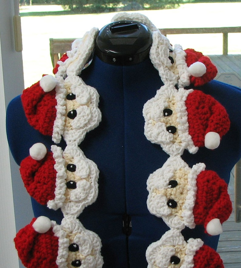 Santa Scarf Crochet Pattern  With Tutorials  Digital image 0