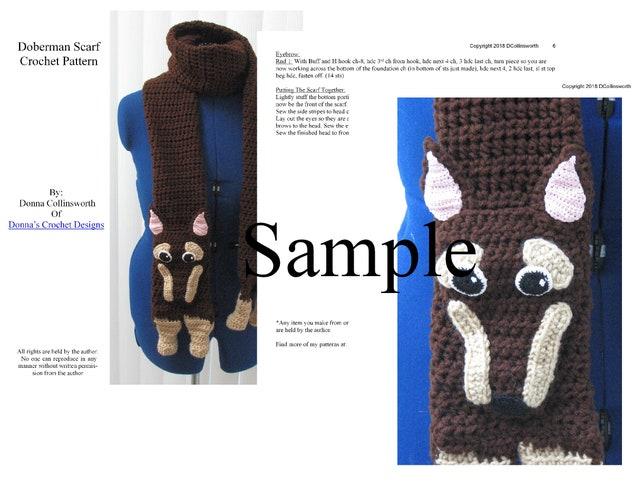 Doberman Scarf Crochet Pattern With Tutorials Digital   Etsy