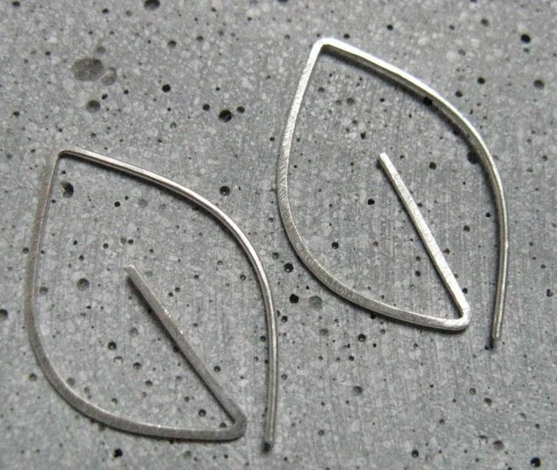 7d7319d5ba37 Silver earrings Leaf small simple earrings minimalist