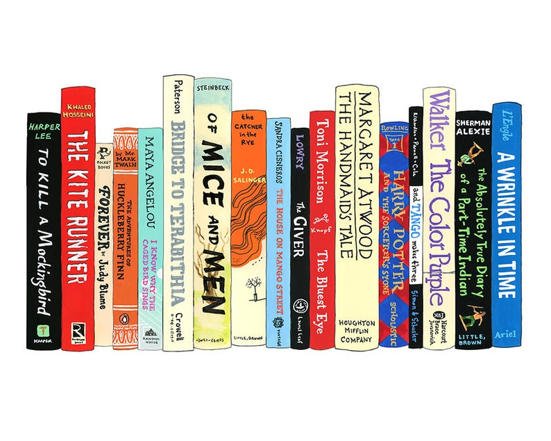 Boekenplank Met Boeken.Ideale Boekenplank 1042 Verboden Boeken Etsy