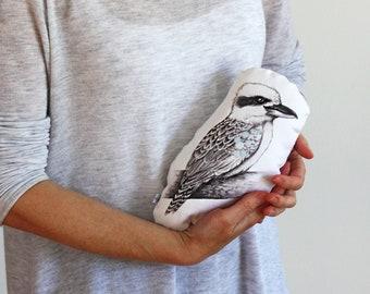 Baby Kookaburra Stuffie. Animal pillow. Softie, Plush, Soft Toy, Australian native bird, animal