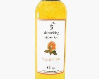 Sauge et agrumes hydratant Shower Gel 8 oz ~ bain soin ~ douche ~ soins de la peau ~