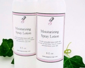 Moisturizing Spray On Body Lotion- Body Care- Skin Care 8 oz size. Gift For Her ~You Select Your Scent