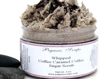Whipped Foaming Coffee Caramel Cream Sugar Scrub 4 oz