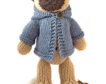 Pug with Anorak Knitting Pattern 62d78a2df2