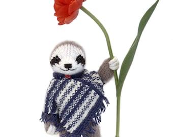 Three-Toed Sloth Knitting Pattern