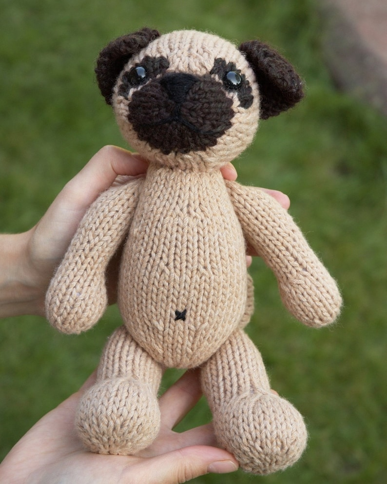 Pug with Anorak Knitting Pattern | Etsy