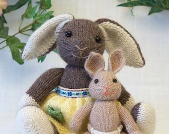Mama and Baby Bunny Knitting Pattern