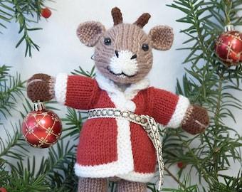 Santa Reindeer Knitting Pattern