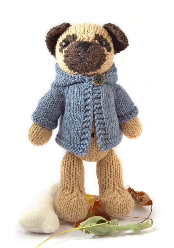Pug with Anorak Knitting Pattern | Etsy