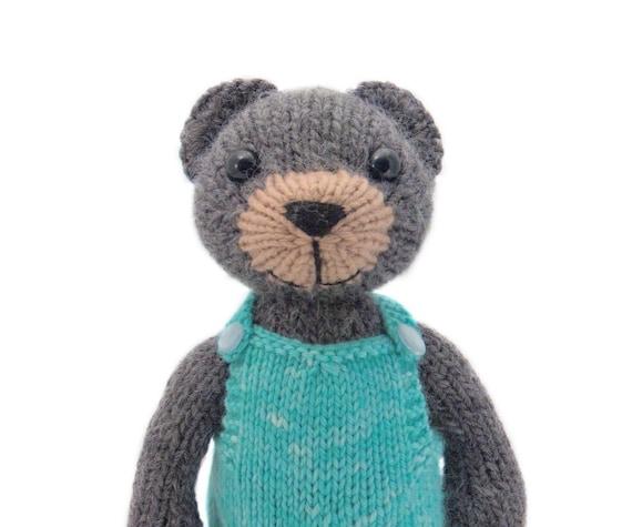 Big Teddy Knitting Pattern Etsy