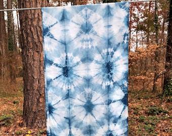 Shibori Circles on Silk