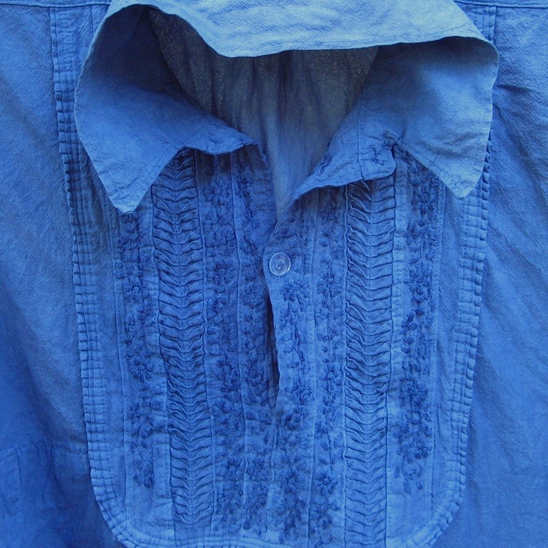 Custom Dyeing in Indigo:  Shirts & Tunics image 0