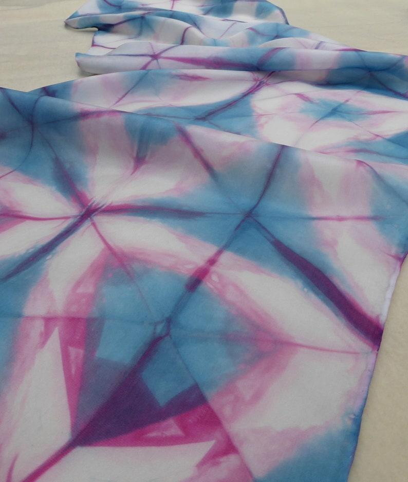 Carolina Blue with Pink on Silk image 0