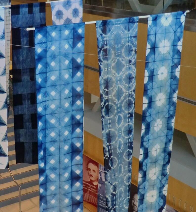 Crisscrosses in indigo image 0