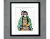 Señorita (Verde) Art Print
