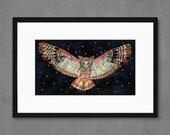 The Protector Owl V2 Art Print