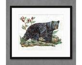 Bear with Sumac Art Print