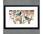 Steller's Jay Art Print on Paper