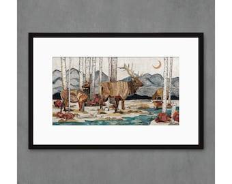 Elk at Hunter Creek Art Print