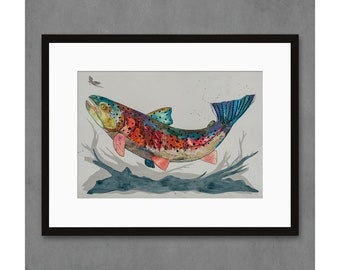 Roaring Fork Rainbow Trout Art Print