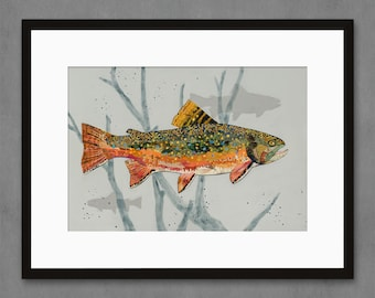 Speckled Prince Brook Trout Art Print