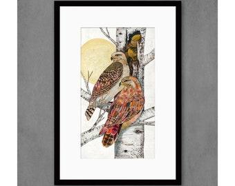 The Royal Guard Hawks Art Print