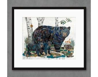 Field Trip - Bear Family Art Print