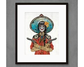 Vaquera Sudoeste (Wildcat Ranch) Art Print