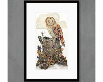 The Sibyl Barn Owl Art Print