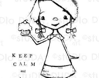 fox and friend 2 versions digital st printable art to MA Hua keep calm cupcake 2 versions digital st printable art to color by studiodudaart