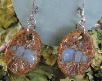 Blue Bee Pottery Earrings from Sweetpea Cottage
