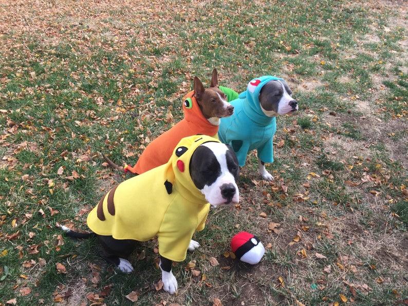 Pikachu from Pokemon Pet Dog costumes sizes XS to XL image 0