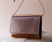 Adelaide Crossbody Bag in Sustainable Chestnut Glossy Leather, Handmade responsibly by Awl Snap Leather Co.
