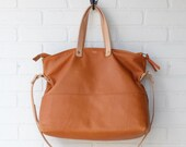 The Edith Leather Diaper Bag by Awl Snap Leather Co. Ethically Handmade