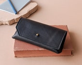 Elm Glasses Case in Sustainable Soft Leather- Handmade responsibly by Awl Snap