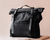 HotShot Weekender Backpack- Sustainably Sourced Leather and Waxed Canvas- Handmade Responsibly by Awl Snap