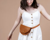 Ester Fanny Pack - Sustainable Leather- Waist Bag- Hip Bag- Responsibly Handmade by Awl Snap Leather Co.
