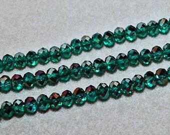 Blue Emeralds- crystal beads