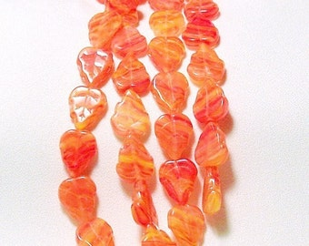 Autumn Comes Early-  ltd. ed. hurricane glass beads