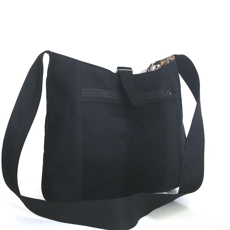 034b7755dc Reversible cross body bag cotton hobo bag bag with zipped