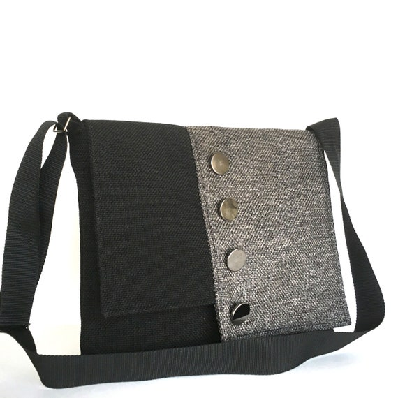 42b56a9299 Large messenger bag women messenger bag black and grey