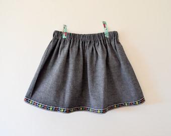 Size 4/5 - Miss Alps Denim Skirt