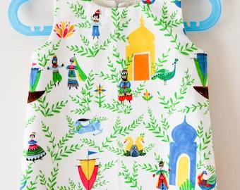 Size 5 - Folky Fairy Tale Organic A-Line Dress