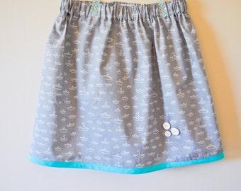 Size 6/7 - Girl Sailor Organic Skirt