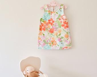 12 months - Painterly Garden A-Line Dress