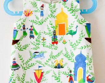 2T - Folky Fairy Tale Organic A-Line Dress