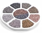 Fusion Beads 8 0 TOHO Seed Bead Palette - DECO - 10 Colors - 10 Grams Each