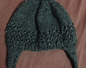 Lace hat with earflaps