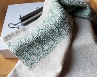 Tea or Kitchen Towel Handmade Sustainable Organic Cotton Linen Sage Green